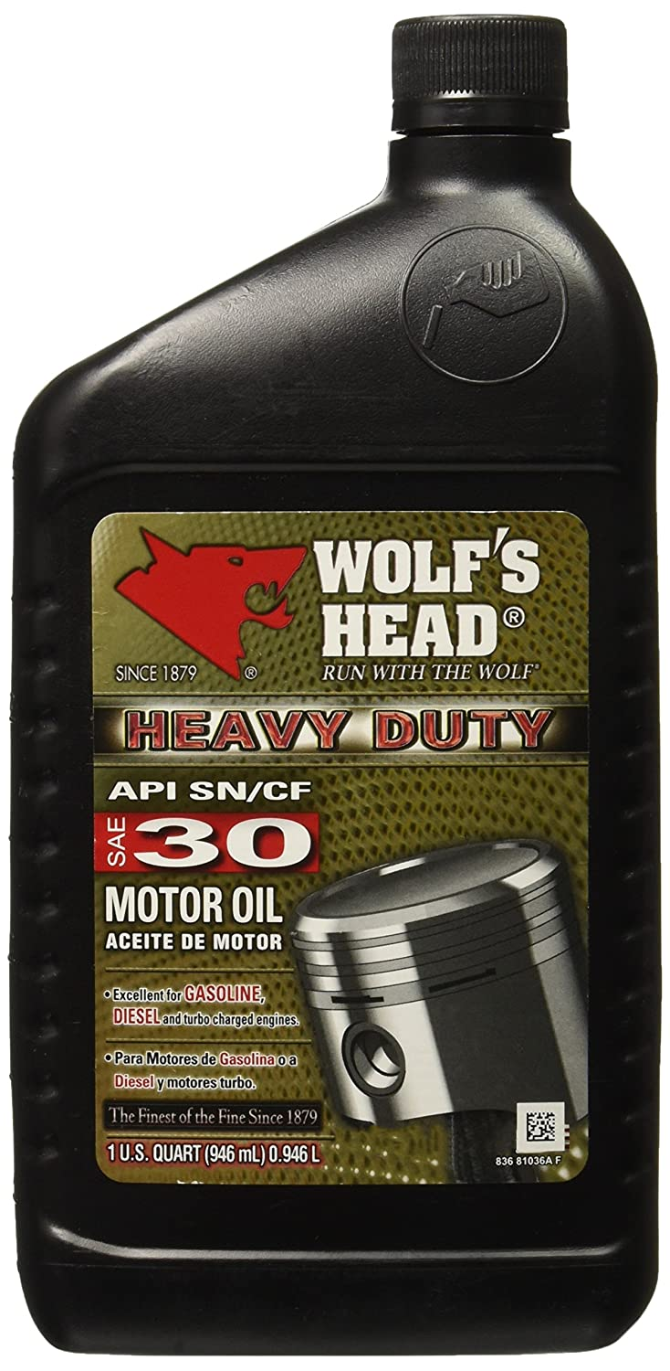 Amazon.com: Wolfs Head 836-81036-56 Motor Oil (HD 30 12/1QT): Automotive