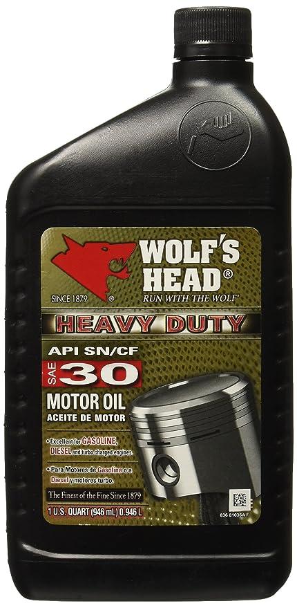 Amazon.com: Wolfs Head 836-81036-56 Motor Oil (HD 30 12/1QT): Automotive