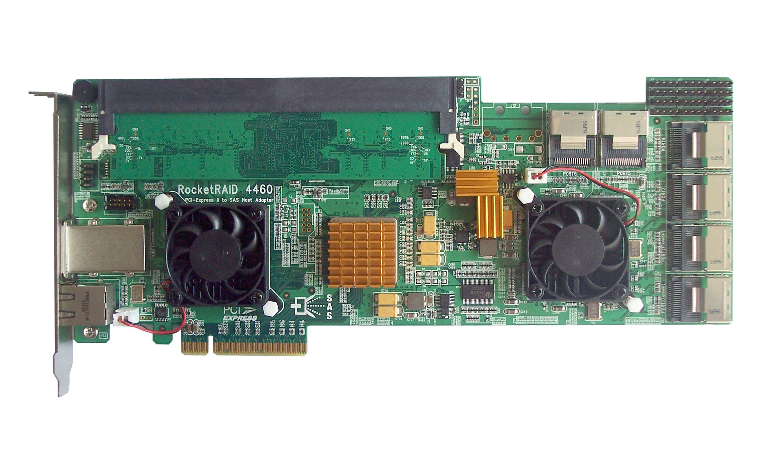 HighPoint RocketRAID 4460 24-Port PCI-Express 2.0 x8 SAS RAID Controller