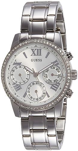 Guess Reloj cronografo para Mujer de Cuarzo con Correa en Acero Inoxidable W0623L1: Amazon.es: Relojes