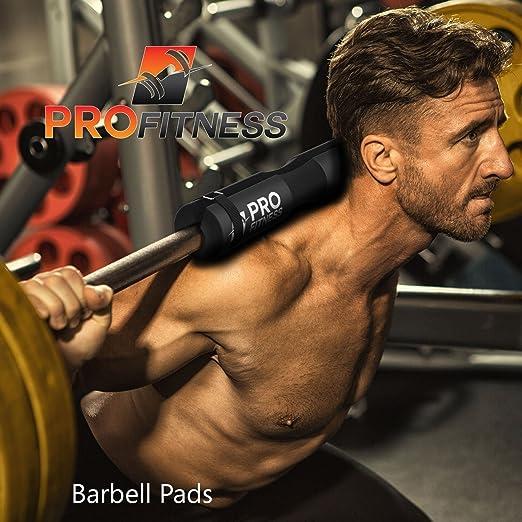 Almohadilla ProFitness para pesas de pesas (acolchada, soporte de ...