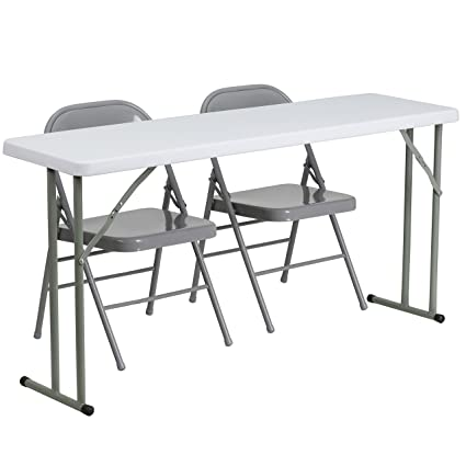 Amazoncom Flash Furniture X Plastic Folding Training - 18 x 60 training table