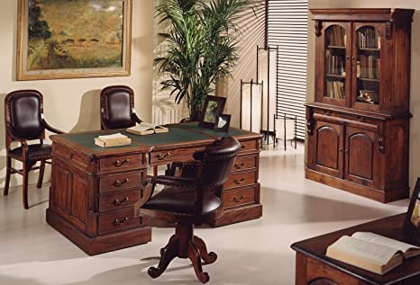 Colonial Style Solid Mahogany Writing Desk With Doors Drawers Price Outlet Discount Online Amazon De Küche Haushalt