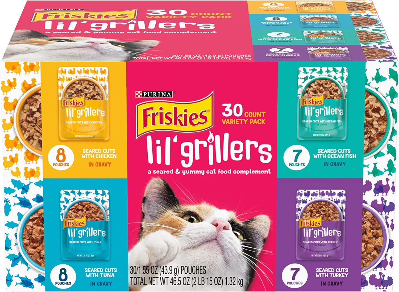 Purina Friskies Cat Food Complement Lil' Soups Lil' Grillers & Lil' Slurprises