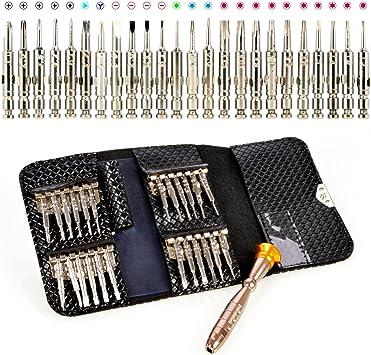 Jeu de mini tournevis 25 en 1 Outils de réparation de bijoux électroniques