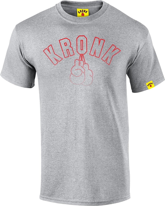 KRONK Look Vintage Outline Gants pour Homme Coupe Classique T-Shirt