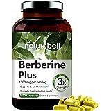 Maximum Strength Berberine Plus, 1200 mg por porción, 120 cápsulas, soporta poderosamente el metabolismo de la glucosa, siste