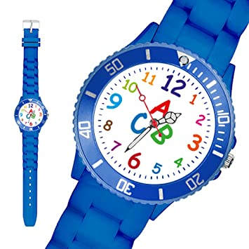 Armbanduhr kinder blau  Taffstyle® Sportarmbanduhren - Bunte Sportuhr Kinderuhr Silikon ...