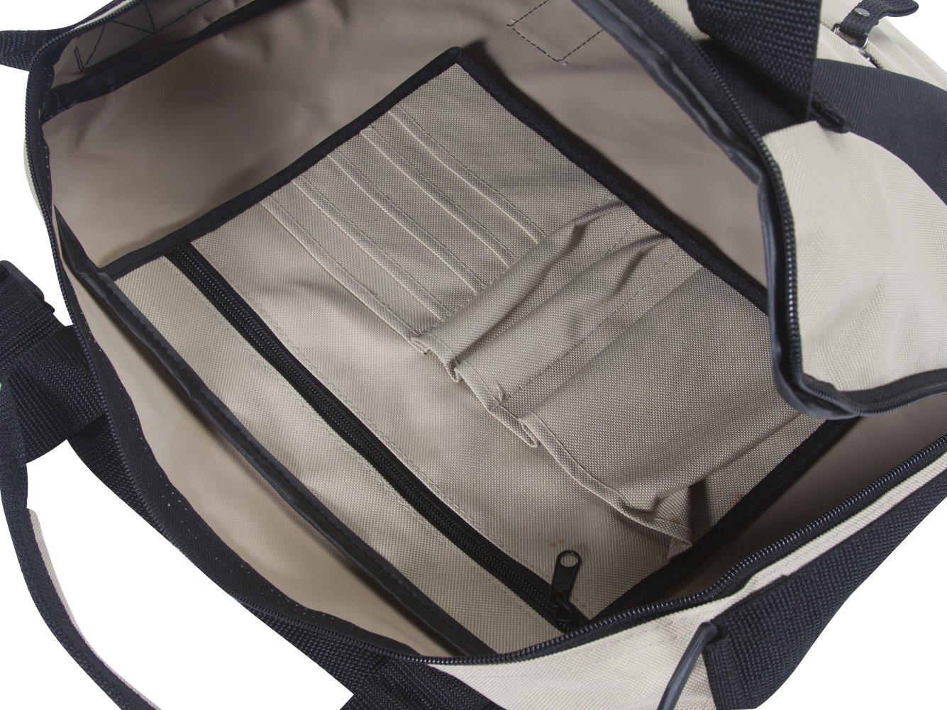 Varsity Beach Picnic Tote Bag Khaki