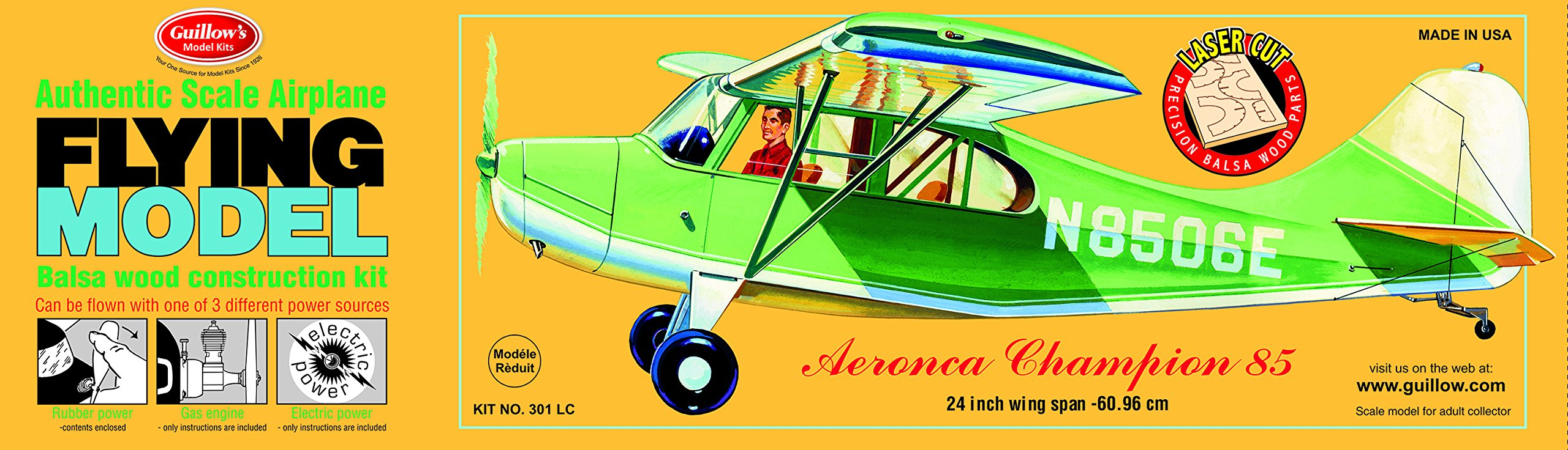 Guillow's Aeronca Champion Balsa Model Airplane Model Kit by Guillow