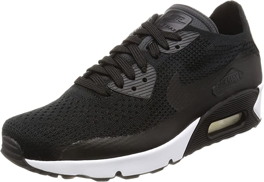 quality design 6429c 8037a Air Max 90 Ultra 2.0 Flyknit Men's Running Shoes Black/Black-Black-White  875943-004 (9.5 D(M) US)