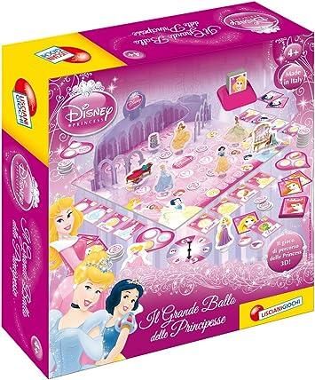 Liscianigiochi 39906 Il Grande Ballo - Juego de Mesa en 3D, diseño de Princesas Disney (versión en Italiano) [Importado de Italia]: Amazon.es: Juguetes y juegos