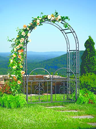 Amazoncom Plow and Hearth Montebello Garden Arbor Trellis with