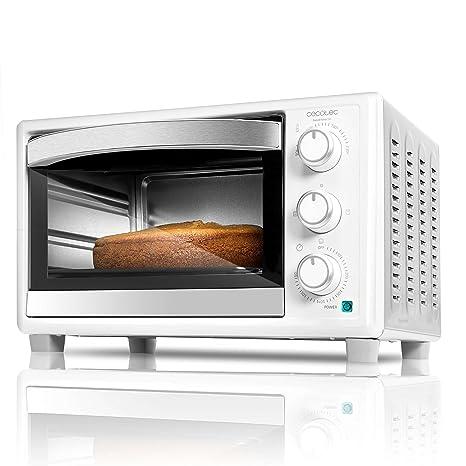 Cecotec Horno Conveccion Sobremesa Bake&Toast 590. Capacidad de 23 litros, 1500 W, 3 Modos, Temperatura hasta 230ºC y Tiempo hasta 60 Minutos, Incluye ...