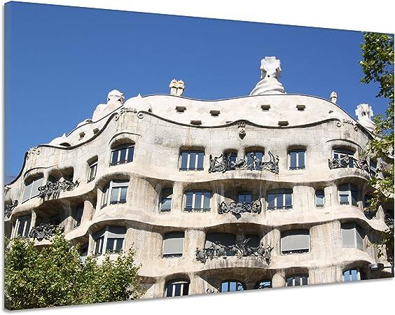 Gaudí España Barcelona Arquitectura Fachada Lienzo Póster Impresión de aa7810, 120x90: Amazon.es: Hogar