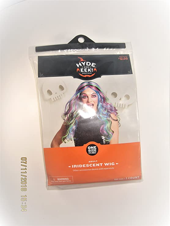 Amazon.com: Hyde and Eek Iridescent Wig - Adult-Womens Wig-Halloween-one Size fits Most: Clothing
