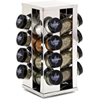 Kamenstein Heritage 16-Jar Revolving Countertop Spice Rack with Free Spice Refills for 5 Years