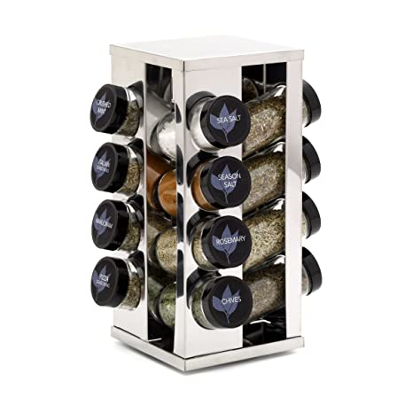 Kamenstein Heritage 16 Jar Revolving Countertop Spice Rack With Free Spice  Refills For 5 Years