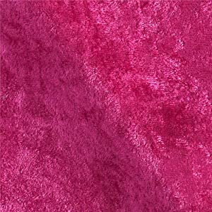 Ben Textiles Stretch Panne Velvet Velour Fabric, Fuchsia, Fabric by the yard
