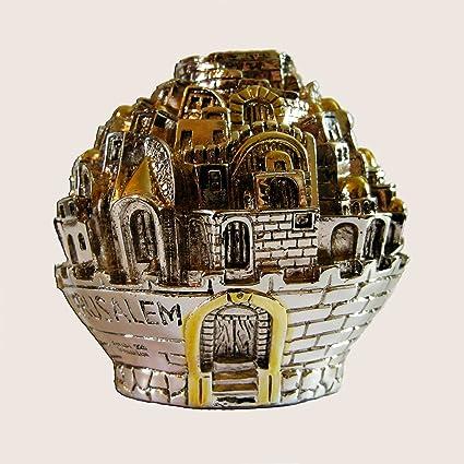 Tzedaká caja judío Caridad caja chapado en plata de ley 925, Judaica, Israel regalo