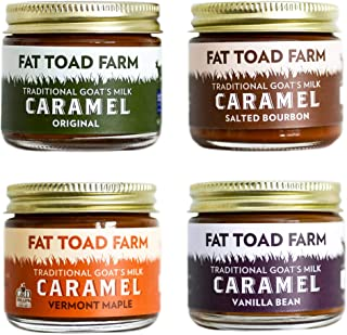 product image for Fat Toad Farm Petit Quartet, 2oz, Traditional Goat's Milk Caramel Sauce, Original, Salted Bourbon, Vanilla Bean, Vermont Maple, Cajeta, Gluten Free