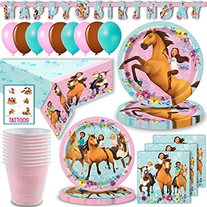 Birthday Party Favors for Kids Officially Licensed 16 oz Unique 8 Count Spirit Riding Free Party Cups