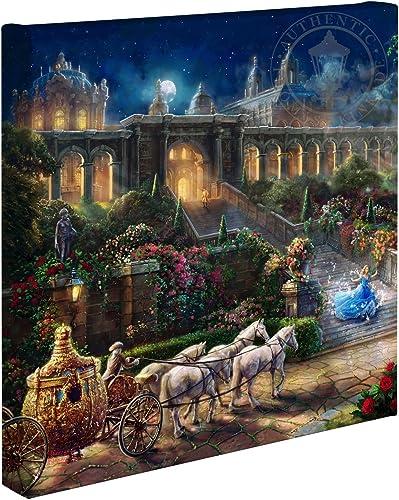 Thomas Kinkade Cinderella – Clock Strikes Midnight 14 x14 Gallery Wrapped Lithograph on Canvas Artwork