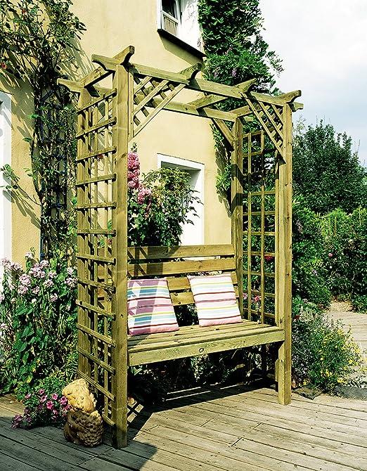 Asiento de calidad tratado Pergola madera kit: Amazon.es: Jardín