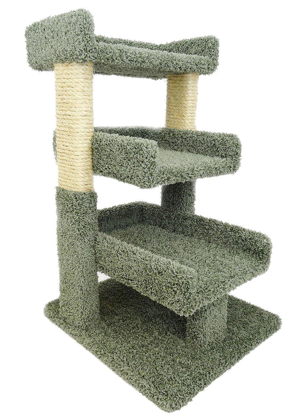 amazoncom  new cat condos premier triple cat perch beige  pet  - amazoncom  new cat condos premier triple cat perch beige  pet supplies