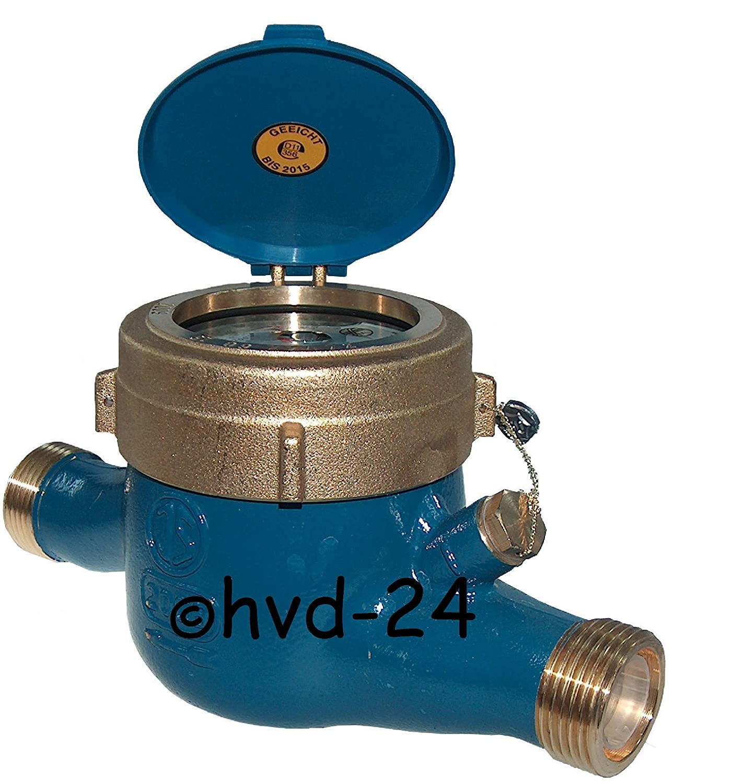"""Wasserzähler Wasseruhr Kalt 3//4/"""" x 190 mm Hauswasserzähler Q3 = 4 geeicht"""