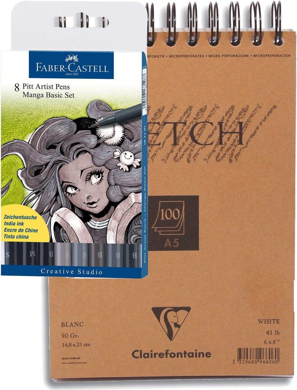 Faber-Castell Manga PITT Artist Pen Wallet of 8