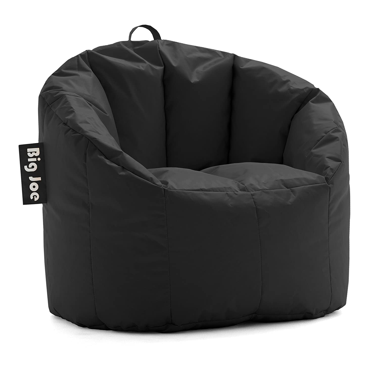 Amazon Big Joe Milano Bean Bag Chair Stretch Limo Black Kitchen Dining