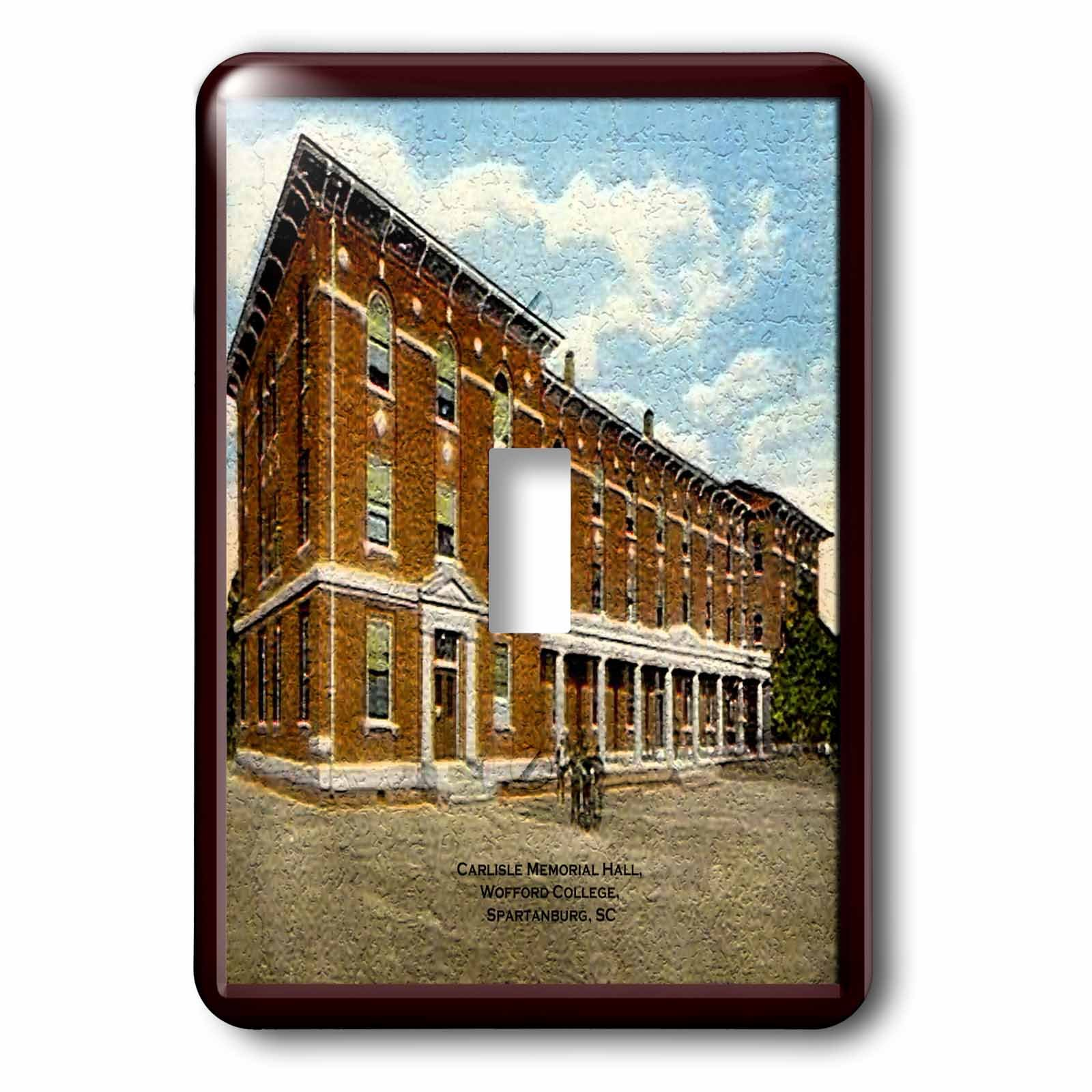 Sandy Mertens South Carolina - Carlisle Memorial Hall, Wofford College, Spartanburg, SC (Vintage) - Light Switch Covers - single toggle switch (lsp_61739_1)