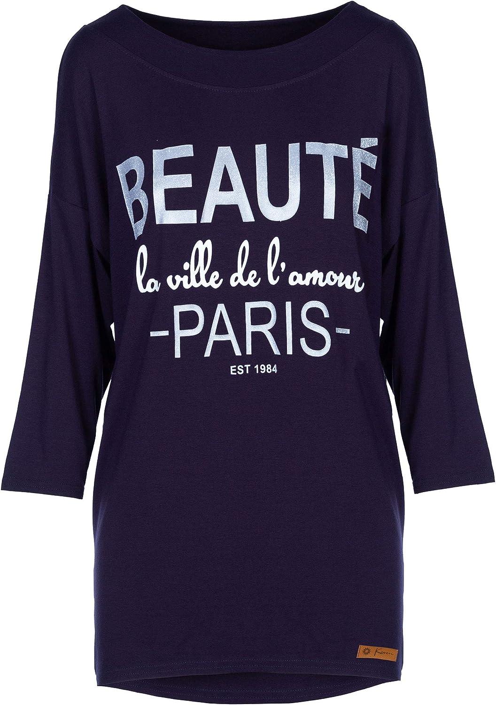 Romens Ltd Donne Tunica Manica Lunga Casuale Camicetta Women Blouse Beaute Paris