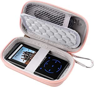 MP3 & MP4 Player Case for SOULCKER/G.G.Martinsen/Grtdhx/iPod Nano/Sandisk Music Player/Sony NW-A45 and Other Music Players with Bluetooth. Fit for Earbuds, USB Cable, Memory Card - Rose Gold