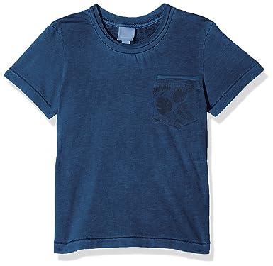 164 Shirt Blau Mit Logo Druck T-shirts, Polos & Hemden Bench T-shirt Junge Gr
