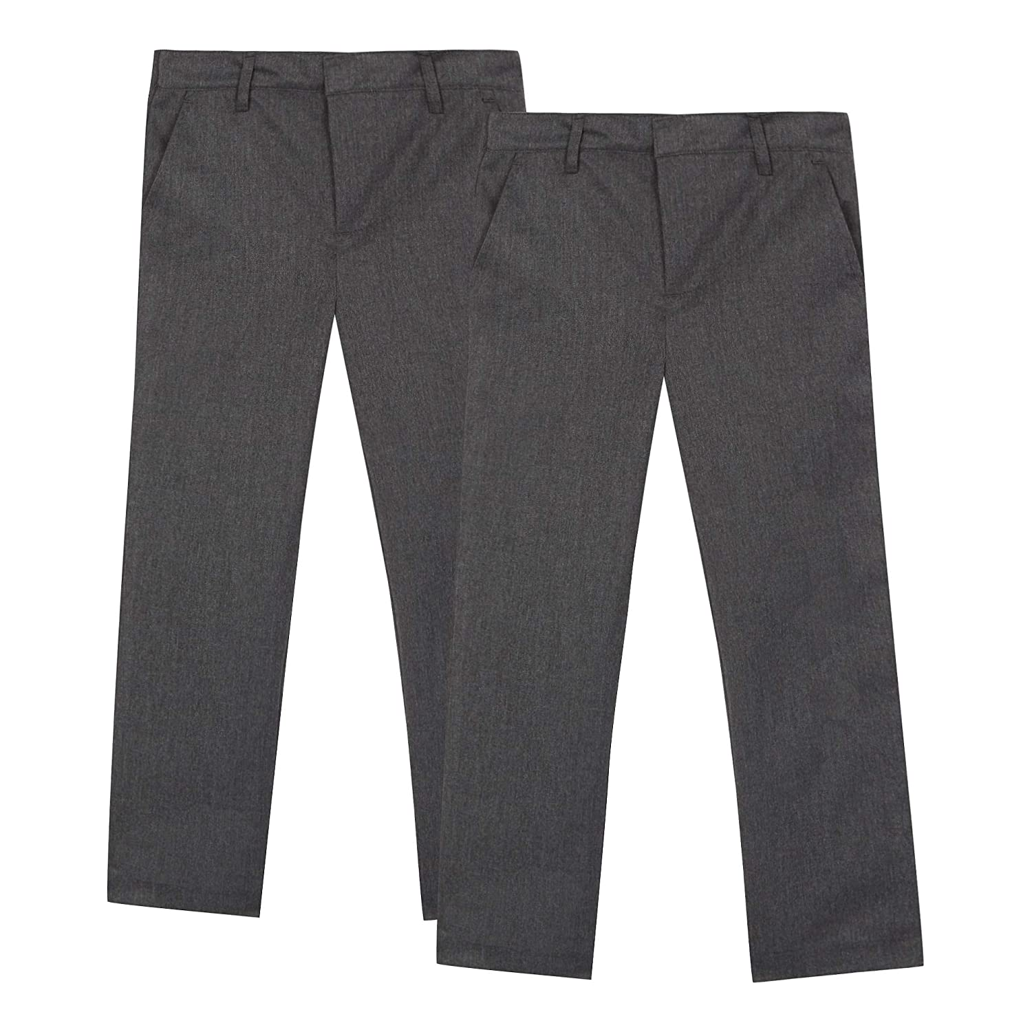 Debenhams Kids Pack of Two Boys' Grey Flat Front School Trousers
