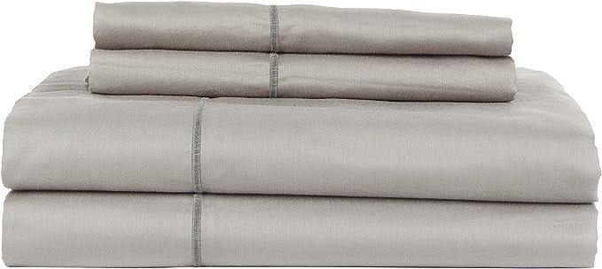 Amazon Com Perthshire Platinum Collection Egyptian Cotton Sheet Set King Gray Home Kitchen