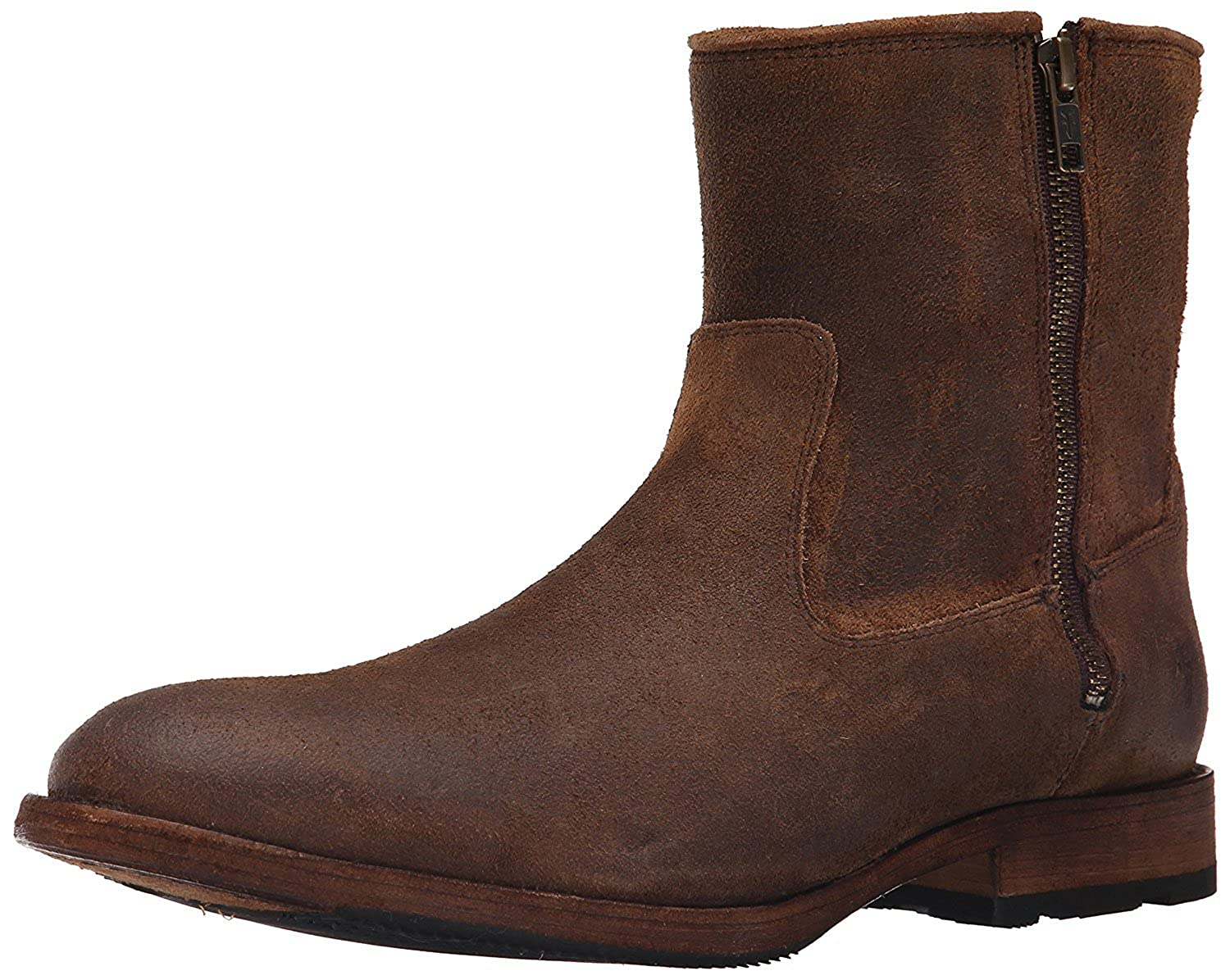 FRYE Men's Ethan Double Zip Boot Tan 9 M US [並行輸入品] B075GHYTLX
