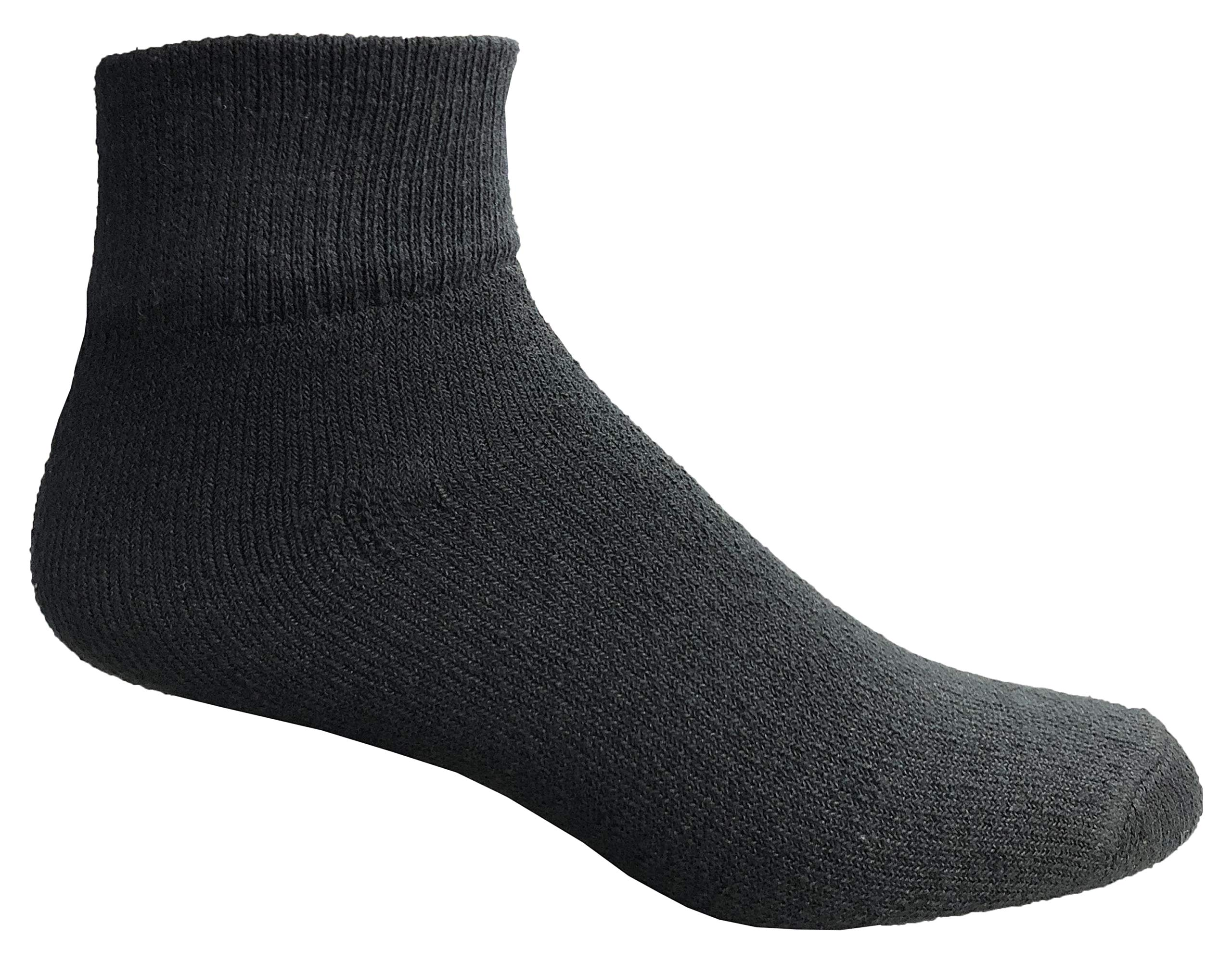 WSD Mens Ankle Socks, Wholesale Bulk Pack Athletic Sports Sock (120 Pairs Assorted) by Wholesale Sock Deals (Image #2)