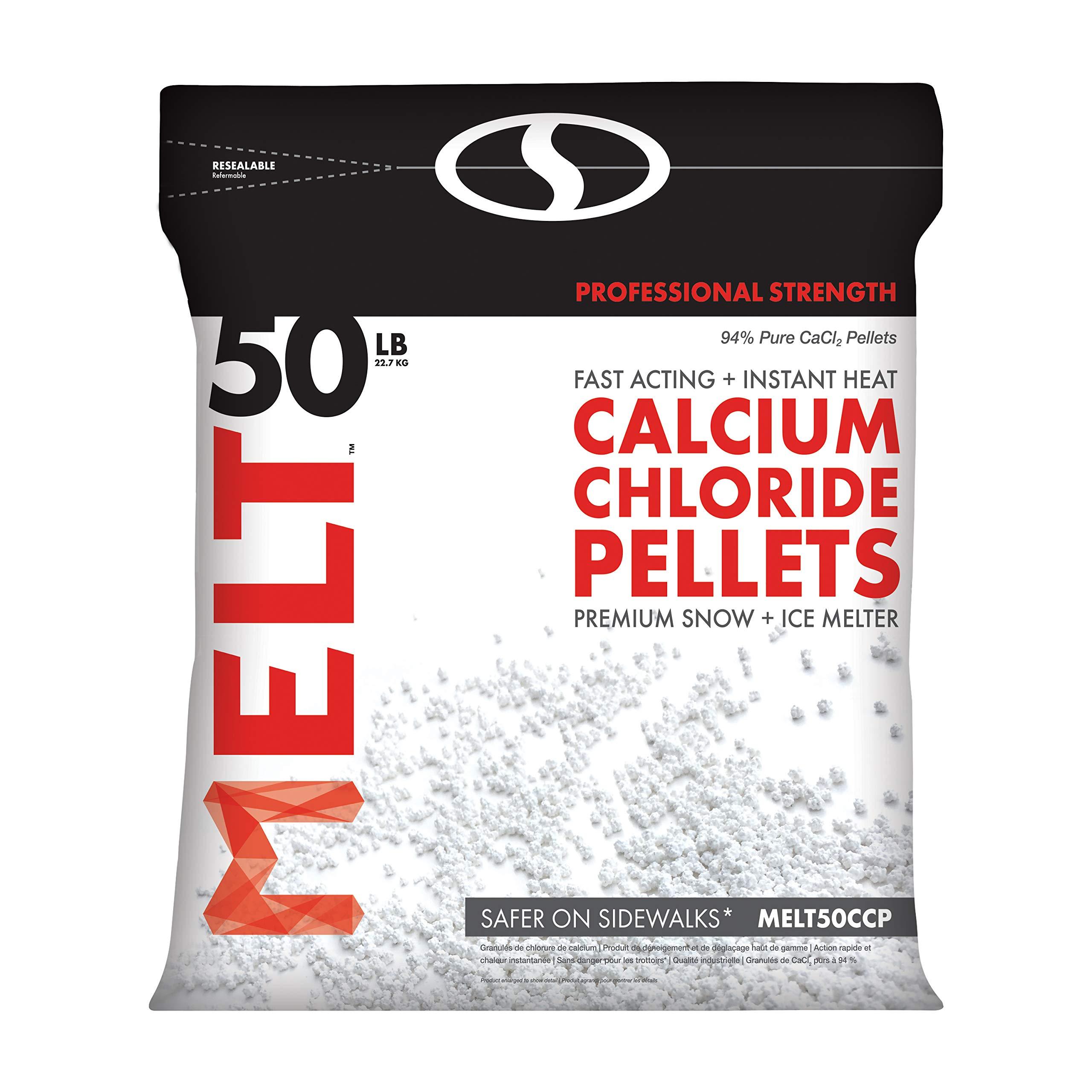 Snow Joe MELT50CCP 50-LB Professional Strength Calcium Chloride Pellets Ice Melter Resealable Bag by Snow Joe