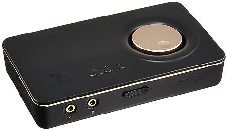 Asus Xonar U7 - Tarjeta de Sonido Externa (con Amplificador de Auriculares), Negro