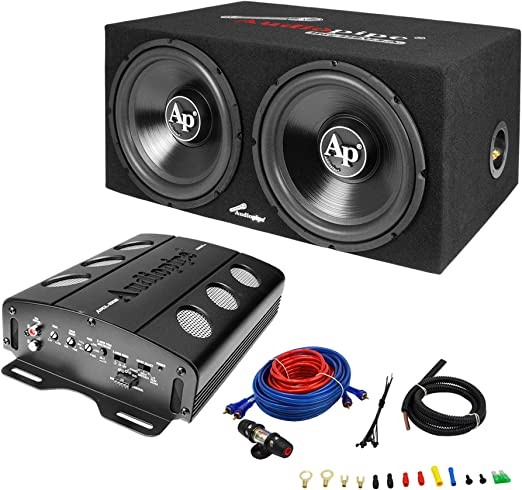 Amazon.com: Audiopipe APSB-1299PP Dual 12 Inch Car Audio Subwoofer Speakers  and Sealed Enclosure, 2 Channel 500 Watt Amplifier, and Wire Installation  KitAmazon.com