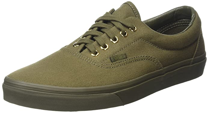 Vans Era Unisex-Erwachsene Low-Top Sneakers Grün (Gold Mono Ivy Green)