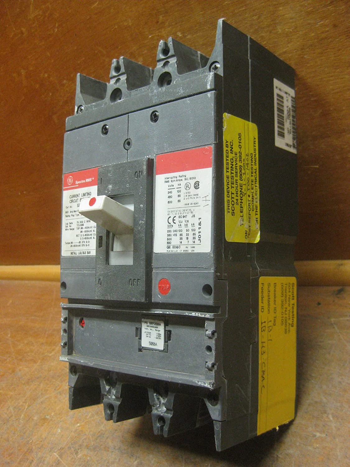 Ge General Electric Sgll36at0600 600a Spectra Breaker Srpg600a600 Arc Fault Circuit Interrupter Afci Industrial Solutions 600v 600 Amp Scientific