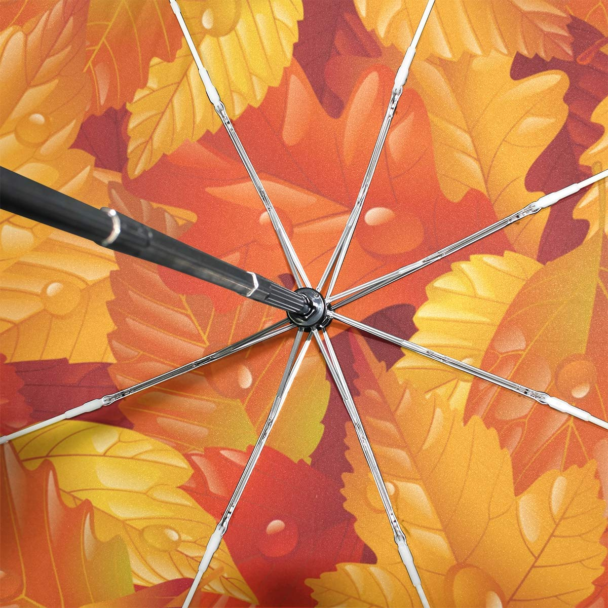 3bea96541aa0 Amazon.com : Senuu Golden Memory Leaf Umbrella Large Travel Auto ...