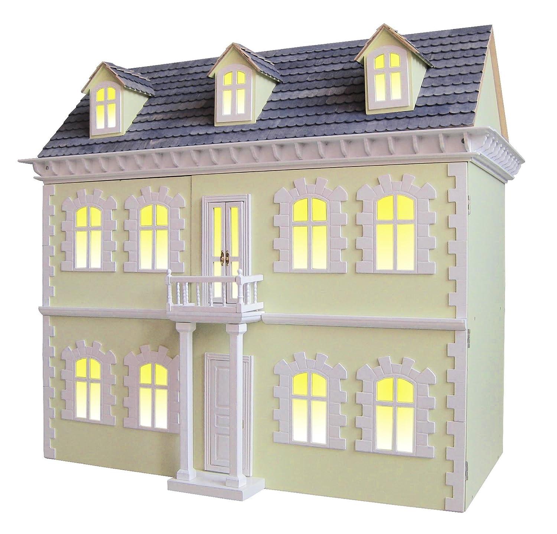 viktorianisches Puppenhaus Villa 78x42x91cm + 6 komplette Möbel-Sets ...
