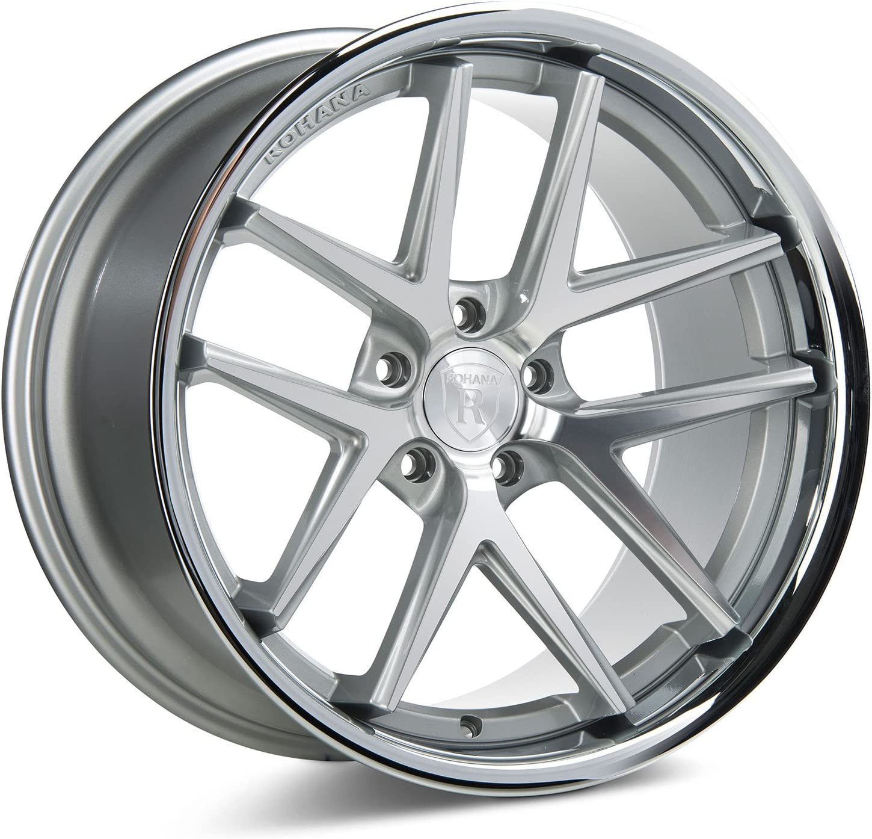 RC919855120MS20 RC9 Rohana Wheels Wheel Diameter: 19 Size: 19x8.5 ET20 Offset: ET20 Bore: Bolt Pattern: 5x120 Machine Silver//Stainless Lip