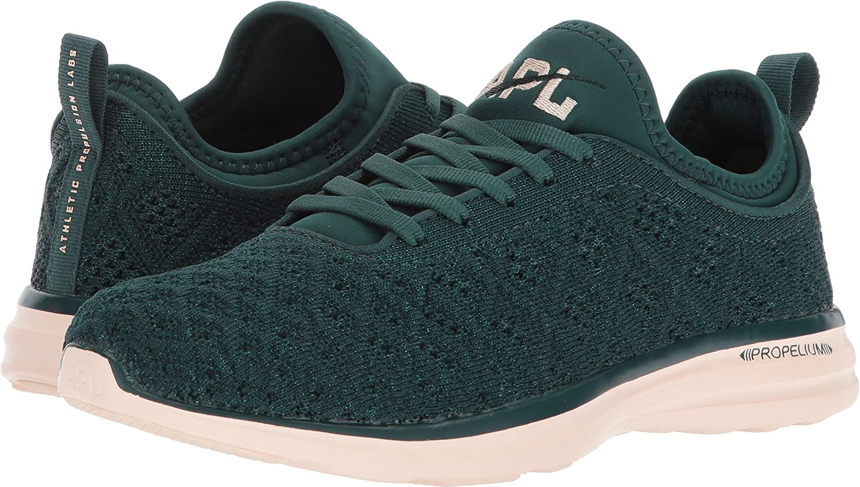 APL: Athletic Propulsion Labs Women's Techloom Phantom Running Shoe B075FT7Y7F 5 B(M) US|Deep Emerald/Opaque Peach