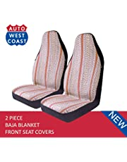 West Coast Auto Baja Blanket Bucket Seat Cover for Car, Truck, Van, SUV - Airbag Compatible (2PCS) (Brown)